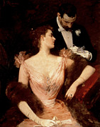 Invitation To The Waltz Print by Francesco Miralles Galaup