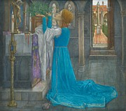 Altar Paintings -  Isabella and the Pot of Basil by Edward Reginald Frampton