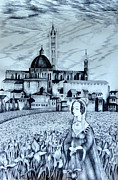 Allegory Drawings -  Italian Fantasies. Siena by Anna  Duyunova