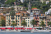 Beach Activities Prints -  Italian Riviera at Santa Margherita Print by George Oze