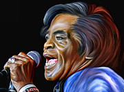 Blues Digital Art Originals -  James Joseph Brown by Andrzej  Szczerski