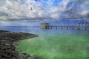 Jekyll Prints -  Jekyll Island Fishing Pier Print by Betsy A Cutler East Coast Barrier Islands