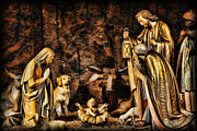 Holliday Scene Framed Prints -  Jesus had a Labrador Framed Print by Lee Dos Santos