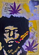 Stencil Art Paintings -  Jimi Hendrix Purple Hazing by Tony B Conscious