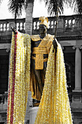 Selective Color Posters -  King Kamehameha Day Poster by Cheryl Young