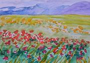 Postcard Painting Originals -  Kyrgyzstan Postcard by Warren Thompson