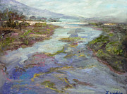 Malibu Lagoon Paintings -  Lagoon by Lillian Winkler