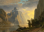 Famous Artists - Lake in the Sierra Nevada by Albert Bierstadt