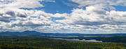 House In The Clouds Framed Prints -  Lake Winnipesaukee Panorama Framed Print by Stephanie McDowell
