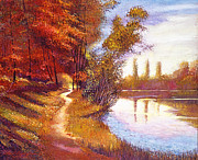 Pathway Paintings -  Lakeside Colors by David Lloyd Glover