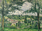 Houses Posters Prints -  Landscape  Print by Paul Cezanne