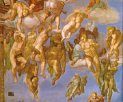 Famous Artists - Last Judgment by Michelangelo di Lodovico Buonarroti Simoni