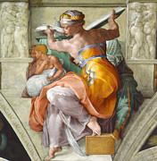 Famous Artists - Libyan Sibyl by Michelangelo di Lodovico Buonarroti Simoni