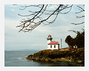 Prints From San Juan Framed Prints -  Lime Kiln Light Station Framed Print by Jack Pumphrey