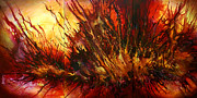 Combustion Painting Framed Prints -  Limitless  Framed Print by Michael Lang