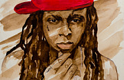 Jay Z Painting Prints -  Little Weezy Print by Laur Iduc