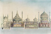 Minarets Framed Prints -  Longitudinal Section Organ Framed Print by John Nash