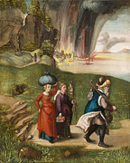 Escape Painting Metal Prints -  Lot and His Daughters Metal Print by Albrecht Durer