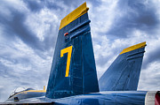 Plane Mixed Media Metal Prints -  Lucky 7 BLUE ANGEL Metal Print by Carter Jones