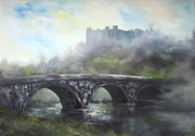 Princes Painting Posters -  Ludlow Castle in a Mist Poster by Jean Walker