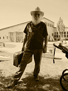 Old Man With Beard Prints -  Luggage Full Of Blues Print by Kym Backland