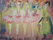 Ballet Dancers Paintings -  Madams Quadrille ballet  by Judith Desrosiers