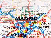 Road Map Art -  Madrid  by Lusoimages  