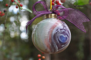 Round Ceramics -  Majolica Maiolica Ornament by Amanda  Sanford