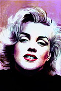 Los Angeles Digital Art Metal Prints -   Marilyn Monroe 3 Metal Print by Andrzej  Szczerski