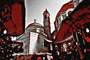 Duomo Cathedral Digital Art Prints -  Market and Duomo Florence Italy Print by Maggie Vlazny
