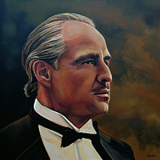 The Godfather Painting Posters -  Marlon Brando Poster by Paul  Meijering