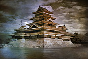 Beautiful Digital Art Originals -  Matsumoto Castle  by Andrzej  Szczerski