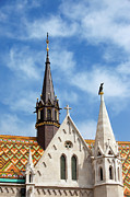 Rooftop Framed Prints -  Matthias Church Architectural Details in Budapest Framed Print by Artur Bogacki