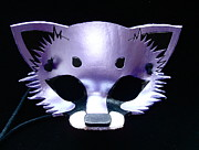 Mask Jewelry -  Metallic Purple Fox by Fibi Bell