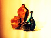 Jars Paintings -  Middle East Jars by Bhogpati Baboo