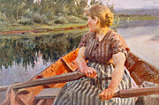 River Posters Framed Prints -  Midsummer Night Framed Print by Anders Leonard Zorn