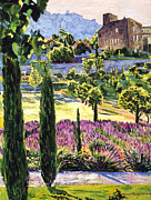 Gardenscape Paintings -  Midsummers Eve In Provence by David Lloyd Glover