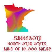 Home Design Abstract Collection -  Minnesota State Map Collection 2 by Andee Photography