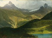 Famous Artists - Mountain landscape by Albert Bierstadt