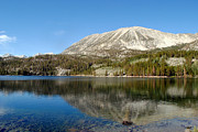 Rock Creek Lake Prints -  Mountain Reflection in Lake Print by Lyndall Hamlett