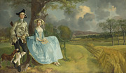 Famous Artists - Mr and Mrs Andrews by Thomas Gainsborough