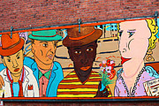 Mural Wall Art In Seattle Print by Kym Backland