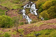 Landforms Greeting Cards Prints -  Nant Gwynant Waterfalls III Print by Maciej Markiewicz