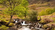 Gwynant Greeting Cards Posters -  Nant Gwynant Waterfalls VII Poster by Maciej Markiewicz