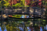 Manito Park Framed Prints -  Nishinomiya Japanese Garden - Bridge over Kiri Pond Framed Print by Mark Kiver