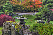 Manito Park Framed Prints -  Nishinomiya Japanese Garden -Japanese Lantern Framed Print by Mark Kiver