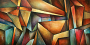 Perspective Paintings -  Obvious Space  by Michael Lang