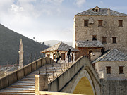 Mostar Photos -  Old Bridge over Neretva River  by La di  Kirn
