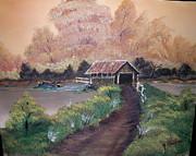 Old Covered Bridge Print by Ken Frazer
