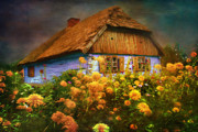 Red Flower Digital Art -  Old house... by Andrzej  Szczerski
